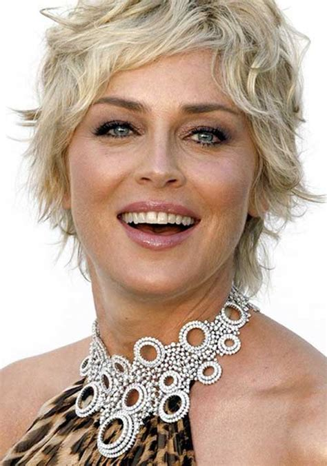 sharon stone hairband sharon stone short wavy hair haircuts pinterest
