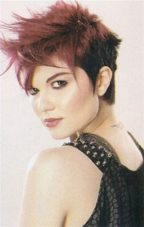 edgy short hairstyles hair style  color  woman