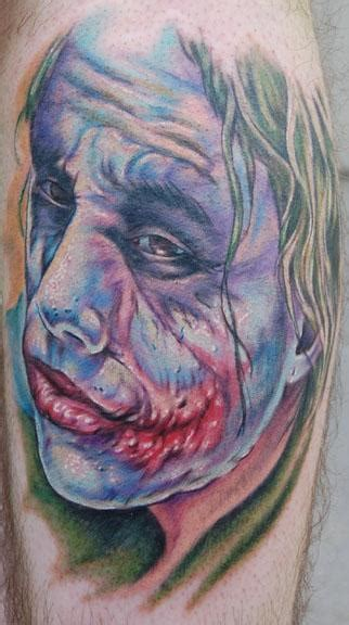 Kaos But Selfie Aveneu Merch heath ledger joker by evan olin tattoonow