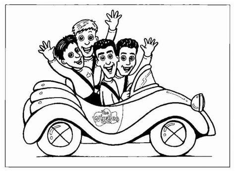fun coloring pages the wiggles coloring pages