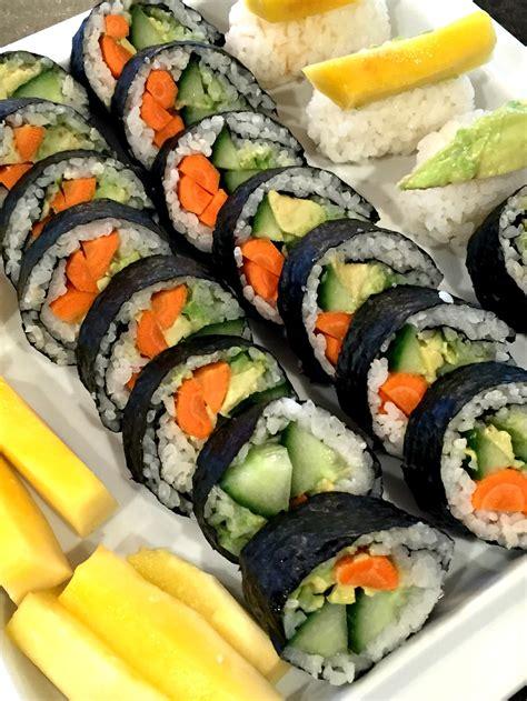 Sushi Kitchen Vegetarian Japanese Food Easy Gluten Free Vegetarian Sushi Rolls
