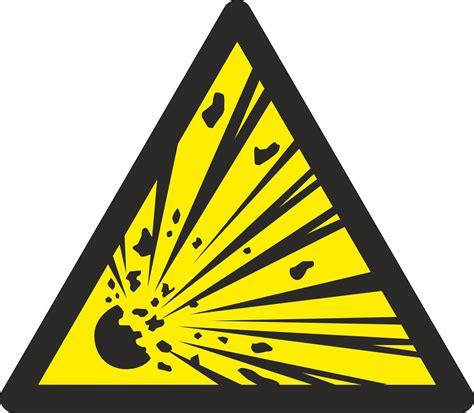 Stoff Aufkleber Buchstaben by Aufkleber Warnung Vor Explosionsgef 228 Hrlichen Stoffen W002