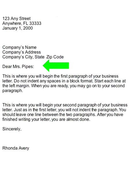 Business Letter Greeting To A collection salutation business letter part of business