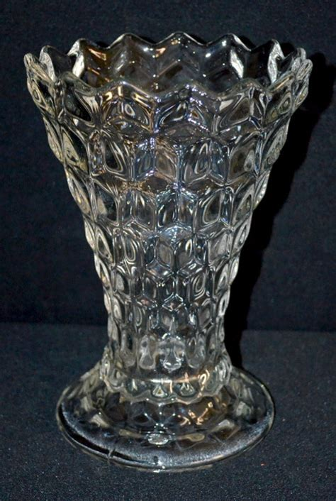 Fostoria Glass Vase by Fostoria American Clear Glass Swung Vase With A Flare