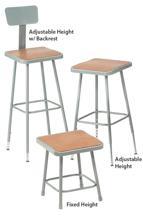 Science Lab Stools by All 6300 Series Square Seat Science Lab Stools By Nps