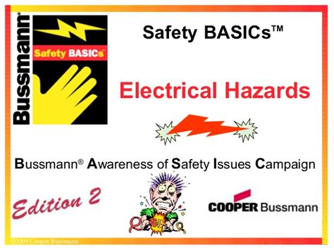 the basics of occupational safety 3rd edition what s new in trades technology books electrical hazards by cooper bussmann