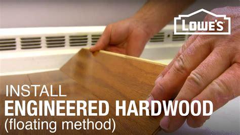 installing engineered hardwood flooring part 1