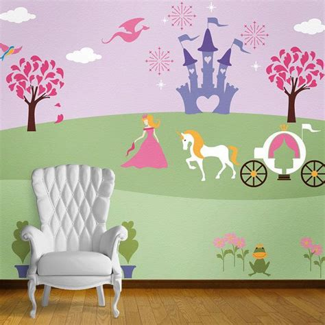 princess wall mural stencil kit for baby girls room