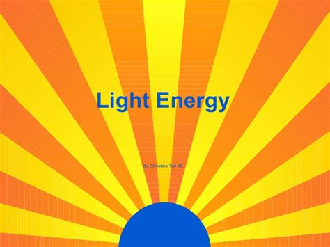 Of Light by Light Energy