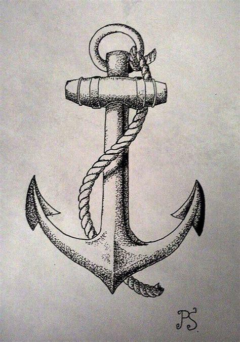 tattoo inspiration anchor tattoo sketch dotwork anchor black sketch