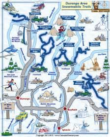 map of durango colorado and surrounding cities durango snowmobile trails map colorado vacation directory