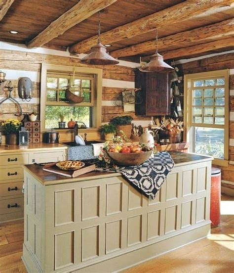 Log Cabin Kitchen Islands by Log Cabin Kitchen Log Cabins