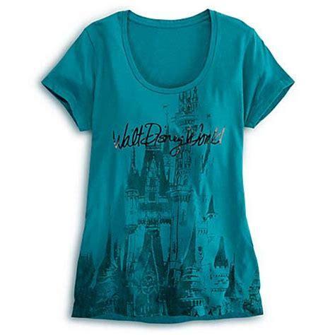 Disney LADIES Shirt   Cinderella Castle Tee for Women   Teal