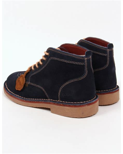 Kickers Suede kickers legendary boots in suede navy legendary mens kickers boots