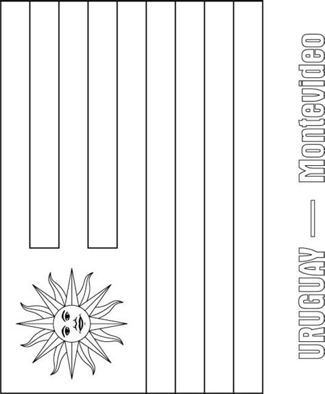 uruguay flag free colouring pages