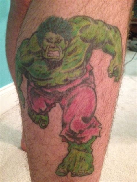 incredible hulk tattoos my tattoos the engine