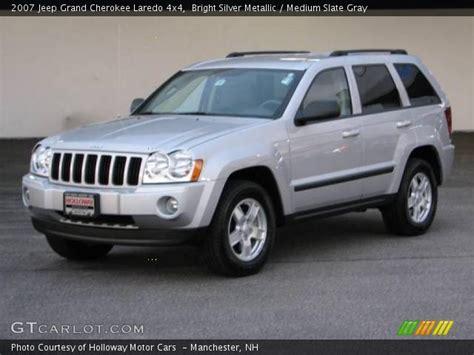 silver jeep grand cherokee 2007 bright silver metallic 2007 jeep grand cherokee laredo