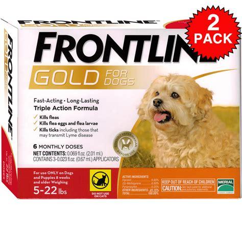 frontline gold for dogs frontline gold for dogs 5 22 lbs orange 12 month