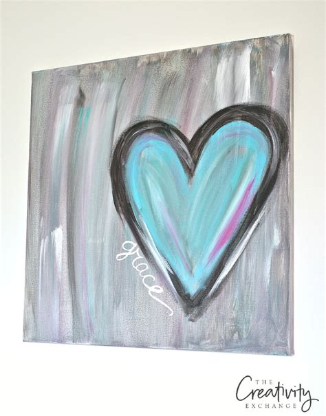 watercolor heart tutorial diy abstract heart painting and a fun paint party
