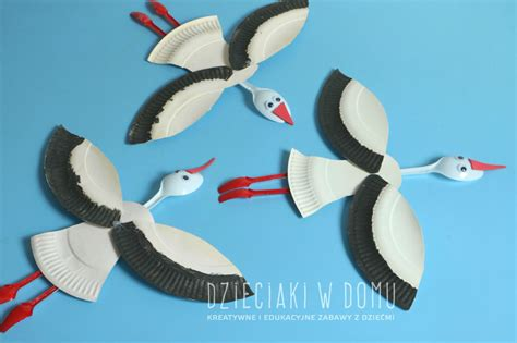 Interesting Paper Crafts - paper plate storks family crafts