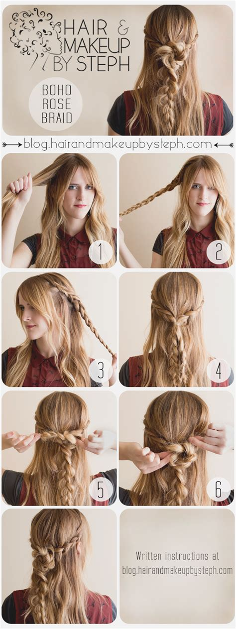 tutorial hair design how to make a boho braid boho braided hair tutorials you