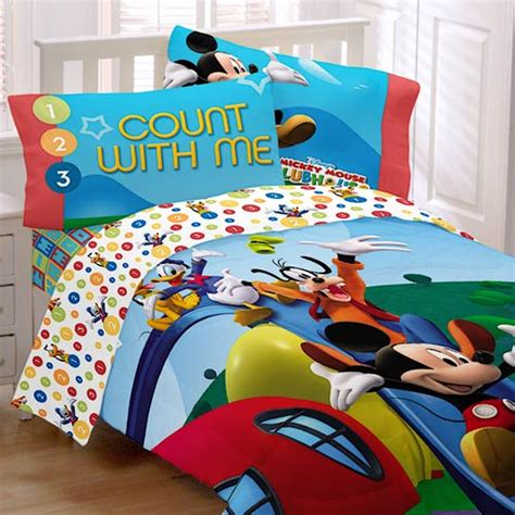 mickey mouse bedding twin disney mickey mouse clubhouse sheet set twin bedding walmart com