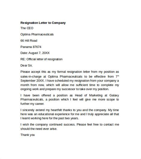 Resignation Letter It Company Sle Resignation Letter Exle 10 Free Documents In Word Pdf