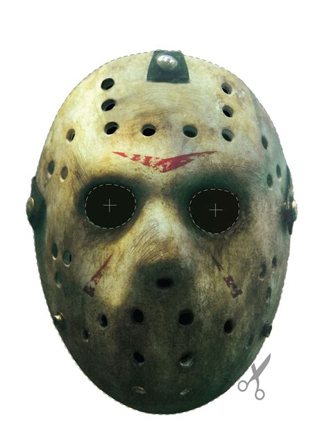 free printable jason mask courtesy of the blood curdling blog of monster masks
