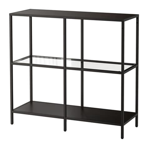 vittsj 214 shelving unit black brown glass ikea