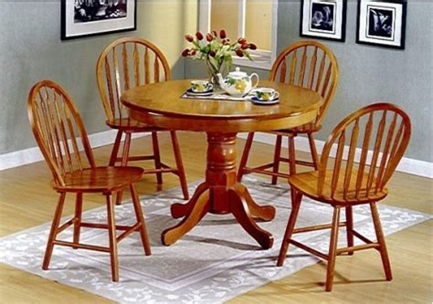 country style wooden table and chairs 5pc country style oak finish wood dining table 4