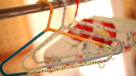 Make Hanger - how to make wrapped hangers and hanger covers kin diy