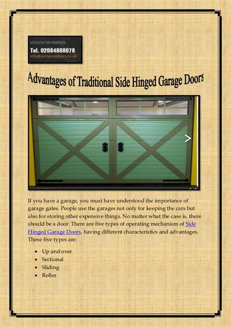 the advantages of using garage advantages of traditional side hinged garage doors