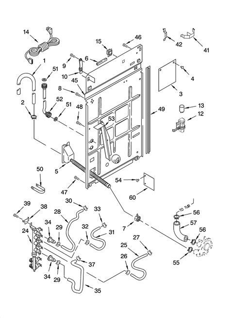 kenmore elite parts diagram rear panel parts diagram parts list for model