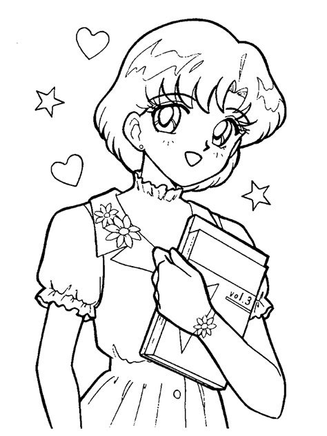 sailor mercury coloring pages coloring home