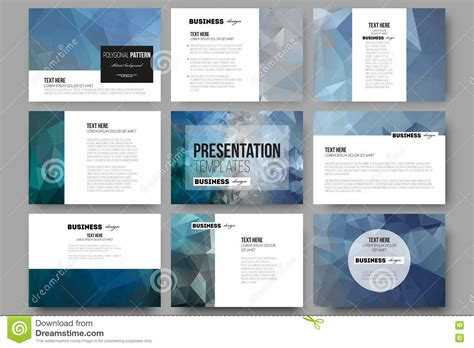 Set Of 9 Templates For set of 9 templates for presentation slides abstract blue