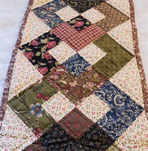 primitive patchwork quilt table runner by cindysquiltpatch