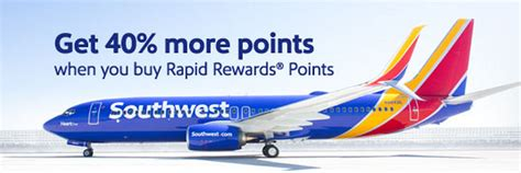 Can You Buy Points With A Southwest Gift Card - southwest buy gift rapid rewards points promo 40 bonus between november 6 26