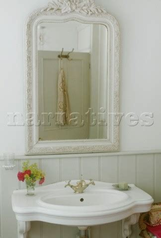 Country Bathroom Mirrors Country Bathroom Mirrors Neutral Bathroom With Dramatic Mirror Country Decorating Ideas