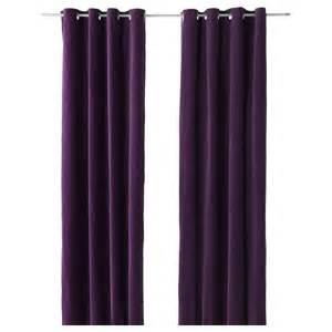 Purple Curtains Ikea Decor Ikea Sanela Lilac Purple Curtains 2 Panels 98 Blackout 187 Simple Home Design