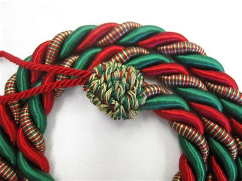 curtain cord 2 rope curtain tiebacks red green slender slinky cord