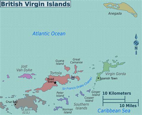 map of bvi and usvi island islands