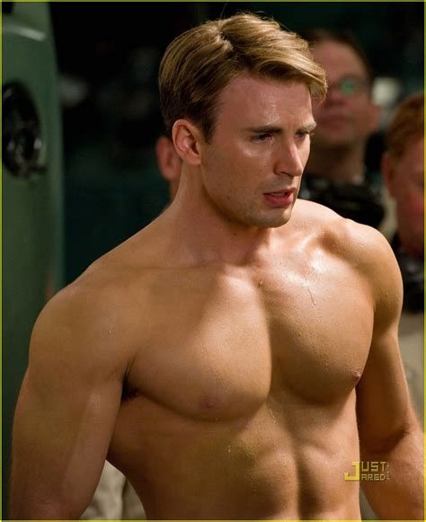 Cary Barnes And Noble Full Sized Photo Of Chris Evans Shirtless Captain America
