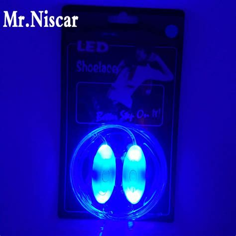 Glow Sorry mr niscar1 pair led light luminous shoelaces glowing shoe laces glow stick colored
