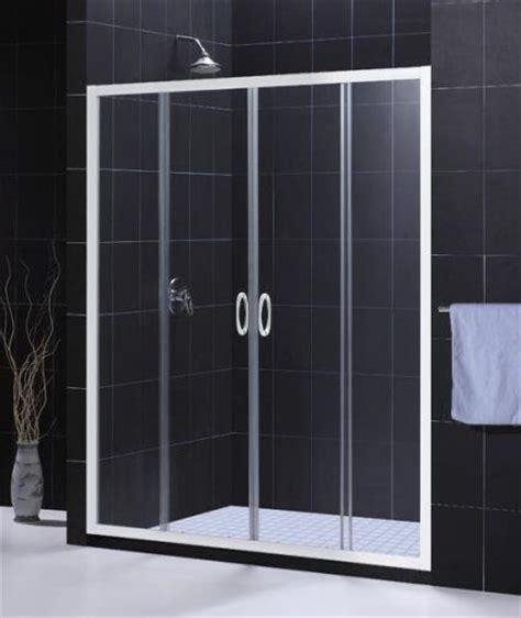 Shower Door And Frame Dreamline Shdr 1160726 00 Visions Shower Door White Frame Finish 72 Inch Height Two Sliding