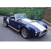 AC Cobra Hire  Front View Of Our Blue Available For