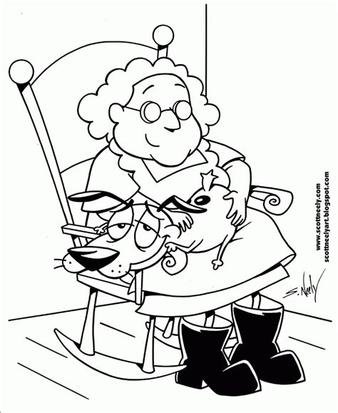 Courage The Cowardly Coloring Pages courage the cowardly coloring page coloring home