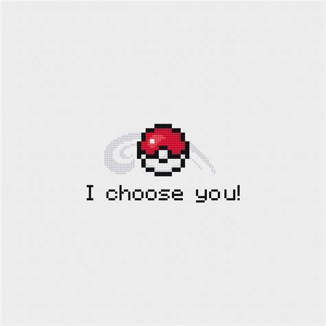 Poketo I Choose You by I Choose You Cross Stitch Pattern Pdf