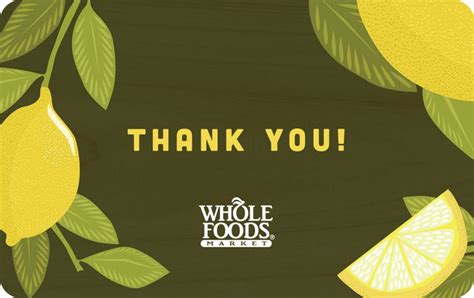 Whole Foods Online Gift Card - whole food gift card infocard co