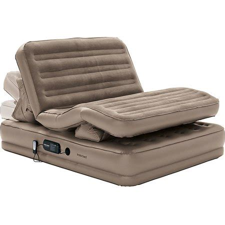 insta bed tm raised insta flex air bed with built in