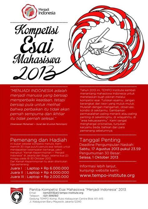 Tempo Buku Cerpen indonesia sastra lomba esai tempo